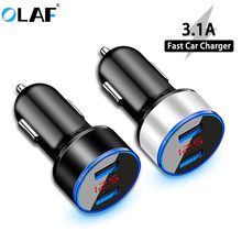 3.1A LED Display Dual USB Charger Mobil Universal Mobile Phone Car-Charger untuk Xiaomi Samsung S8 S9 iPhone X 6 6 S 7 7 Plus Tablet(China)