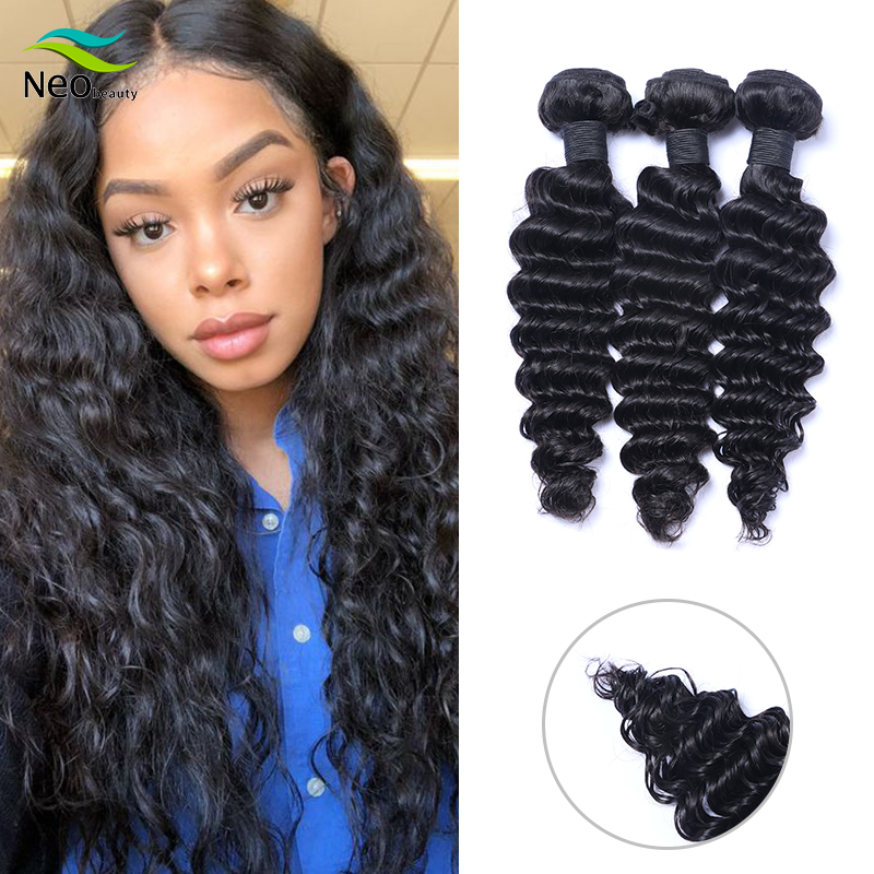 10A Deep Wave Bundles Deals 10pcs Bundles 100% Human Hair Extensions Cambodian Hair 8 - 28 Inch Bundles Deep Virgin Hair