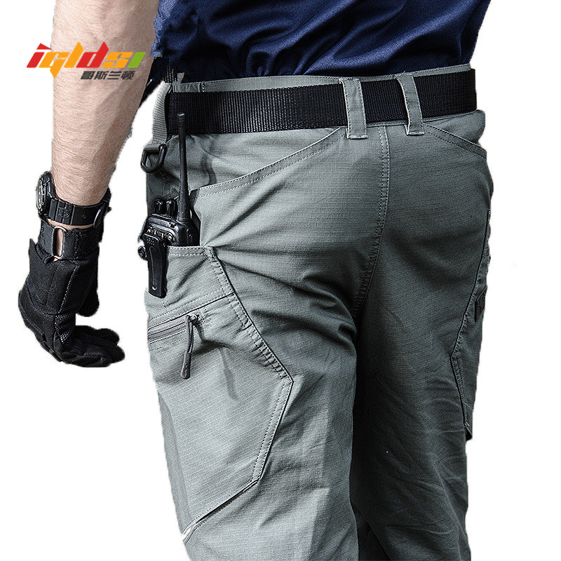 Military Army Cargo Pants Men's Urban Tactical Combat Long Trousers Multi Pockets Unique Casual Pants Ripstop Fabric S-2XL