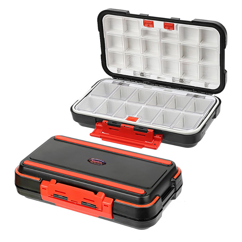 2021 Fishing Waterproof Fishing Tackle Box Double-Sided Opening and Closing Bait Box Multifunctional Hook and Bait Accessory Box