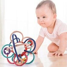 0-12 meses bebê recém-nascido desenvolvimento bola seguro macio dentição brinquedos de plástico mão sino cedo educacional chocalho mordedor brinquedos do bebê