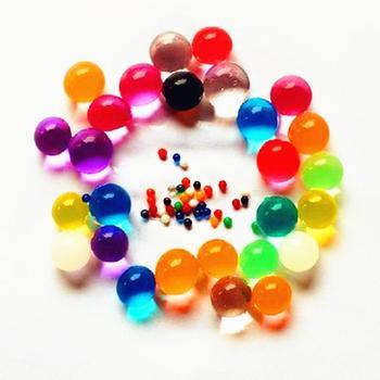 100 sztuk 500 sztuk kryształowe wodne kuleczki do gleby Paintball Mud rosną magiczne galaretki hydrożel piłki Home roślin dekoracje ślubne dla kwiatów tanie i dobre opinie CN (pochodzenie) Kryształowa gleba