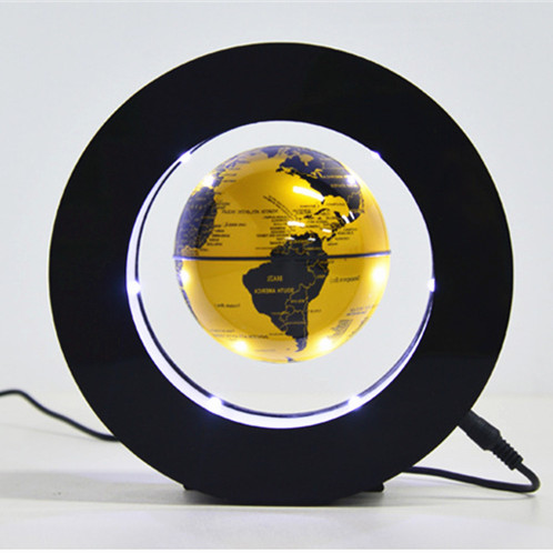 Circular Floating Magnetic Levitation Globe Night Light World Map Spherical Lamp Student School Teaching Equipment Boys Gifts
