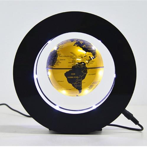 Circular Floating Magnetic Levitation Globe Night Light World Map Spherical Lamp Student School Teaching Equipment Boys Gifts