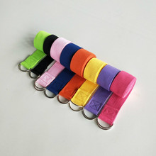 Women Yoga Stretch Strap 180CM Multi-Colors D-Ring Belt Fitness Exercise Gym Rope Figure Waist Leg Resistance Fitness Bands Yoga(China)