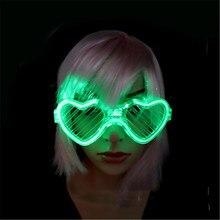 2020 Neon fiesta de Navidad de gafas de neón gafas de LED luz lentes Rave fiesta vasos KTV decoración fiesta de cumpleaños