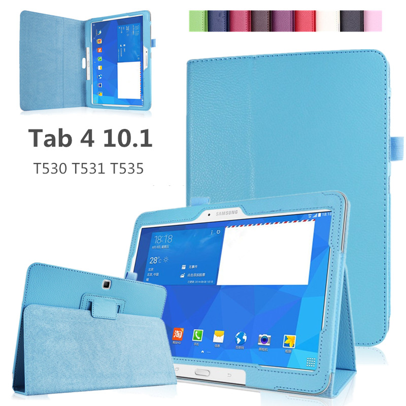 Case-Cover Protector Tablet Tab-4 Galaxy Samsung Pu for T531/T535 Ultra-Thin Stand title=