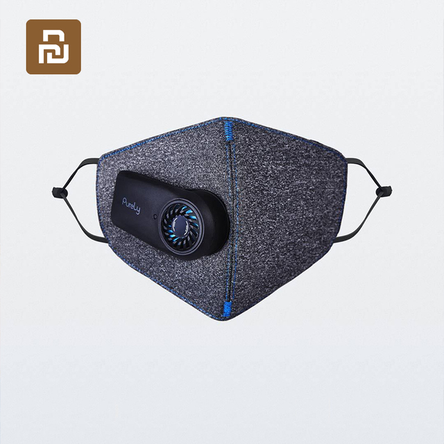 Xiaomi Mijia Purely Anti Pollution Air Mask with Smart PM2.5 550mAh Batteries Rechargeable Filter Three dimensional Structure