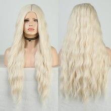 Длинные волнистые синтетические парики charisma 60 блонд для