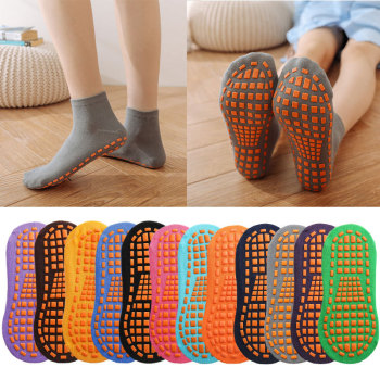 6 pairs pack Trampoline socks for adult & child Home vacation anti-slip floor women cotton yoga Foot massage - discount item  20% OFF Sportswear & Accessories
