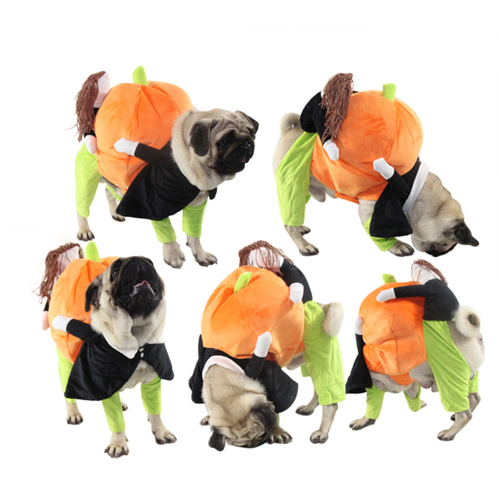 Image 3 - Dog Clothes Halloween Funny Pet Pumpkin Costume Pet Cosplay Special Events Apparel Outfit Dog Cute CostumesCat Clothing   -
