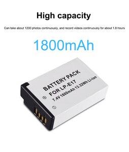 Image 2 - PALO 2Pc LPE17 LP E17 LP E17 Batterie + LCD USB Double Chargeur pour appareil photo Canon EOS 200D M3 M6 750D 760D T6i T6s 800D 8000D Baiser X8i Caméras
