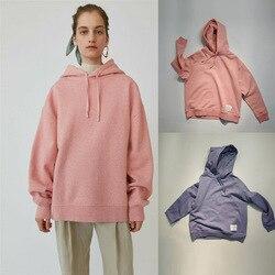 New Plush silhouette hooded solid Unisex Sweatshirt Hoodie A3