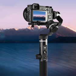 G6 Plus Splash Proof With Screw Portable Stabilizer Black Handheld Gimbal All Round Durable 3-Axis For Mirroress DSLR Camera
