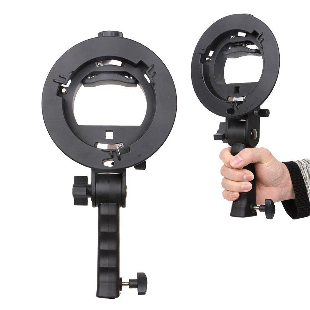 BEESCLOVER Bracket S-Type Speedlite Bracket Pro Mount Adapter Holder For Speedlite Snoot Flash Softbox Hand Grip R60