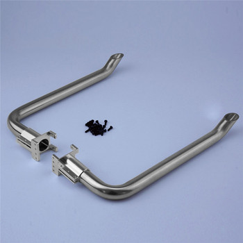 Stainless Steel Exhaust Pipes For 1/14 TAMIYA American King Truck Exhaust Pipe RC Truck Tractor Parts Accessaries