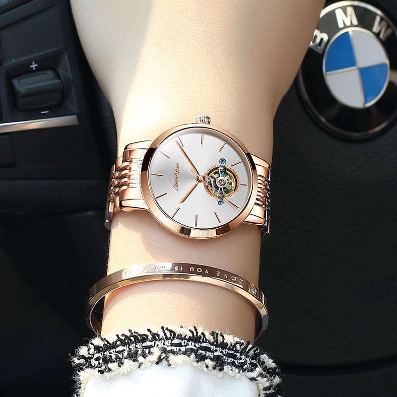 2019 Montre Femme OLEVS женские часы Роскошные модные кварцевые минималистичные водонепроницаемые черные керамические часы Relogio Masculino - 4