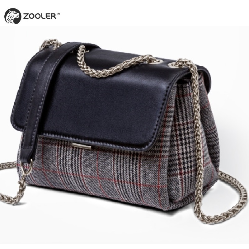 Qulity のバッグ女性 2019 ウール & レザーの女性のショルダーバッグクロスボディレディー財布 ZOOLER デザイナーハンドバッグボルサ feminina # B236  グループ上の スーツケース & バッグ からの ショッピングバッグ の中 1