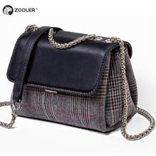 Qulity Bags for women 2019 WOOL& leather woman shoulder bag cross body lady purse ZOOLER designer handbag bolsa feminina#B236 недорого