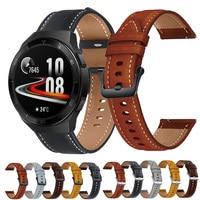 Voor Huawei Horloge GT2e Gt 2 Pro 2E Strap Echt Lederen Band 22Mm Horloge Band Armband Horlogeband Polsband Voor honor Magic Horloge