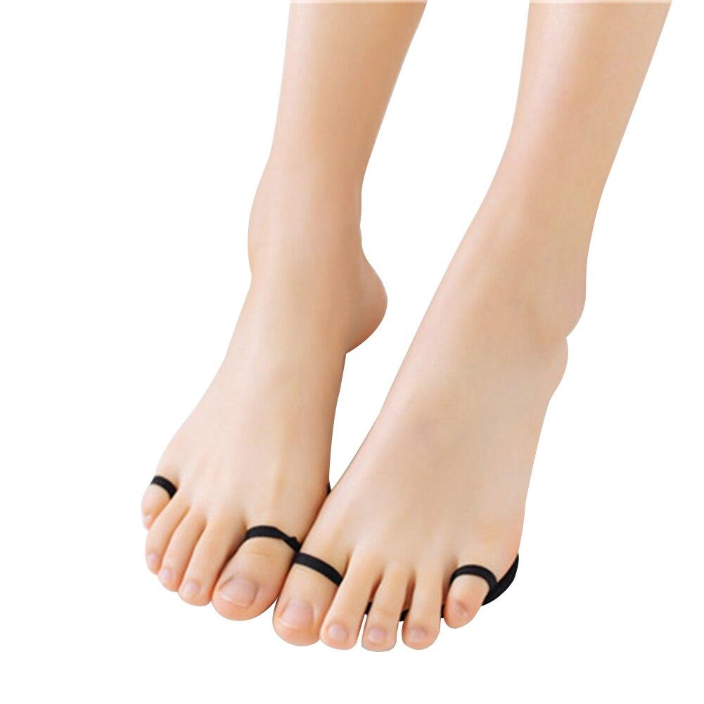 Женские носочки без пальцев, удобные нескользящие носки, летние невидимые носочки, облегчающие боль, уход за ногами