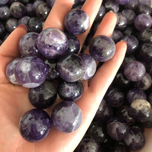 22-25mm Amethyst Ball Crystal Stone Polished Massaging Ball Reiki Healing Stone Home Decor Exquisite Collect Souvenirs Gift