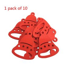 DIY Christmas Hat Creative Wooden Tree Pendant Home Decoration Gift Accessories Ornaments Carved Wood Chips