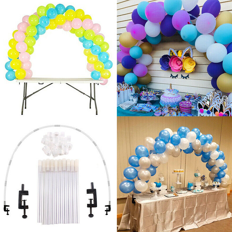 New Large Balloon Arch Set Column Stand Base Frame Kit Birthday Wedding Party Decor DC112
