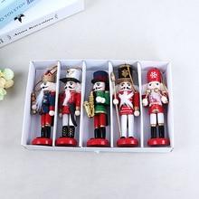 Ornaments Pendants Nutcracker Soldier-Decor Christmas-Decoration Doll Merry Wooden New-Year