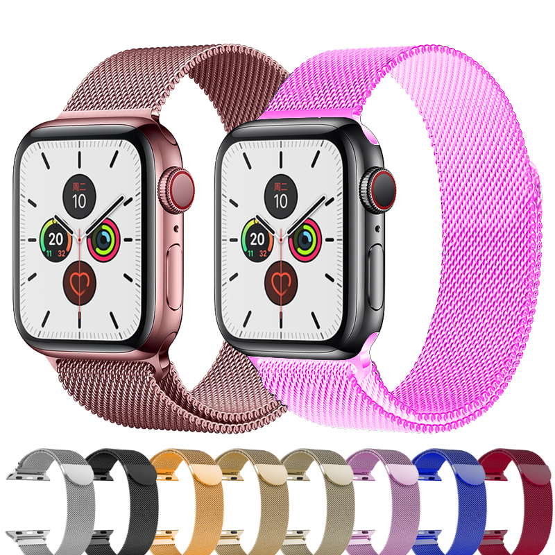 Milanese Loop Stainless Steel Strap For Apple Watch Band 44 Mm 38mm IWatch Band 42mm 38mm Watchband Bracelet Apple Watch 5 4 3