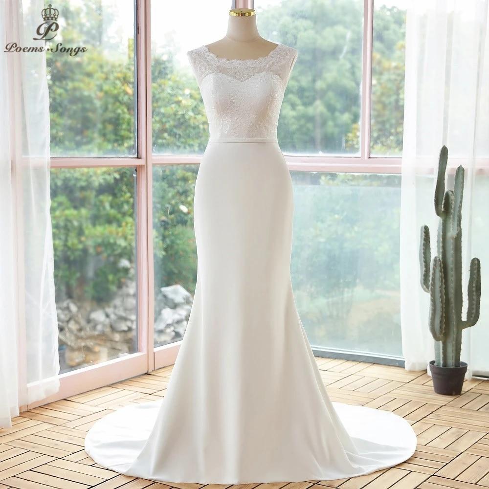 Elegant simple style lace mermaid wedding dresses 20 robe de ...
