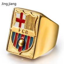 Best selling stainless steel crown epoxy gold ring mens simple fashion high quality punk knight jewelry titanium head