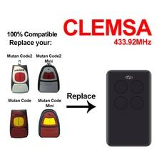 Clemsa mutancode mv garagem controle remoto portão abridor de porta 433.92 315 390 868mhz rolling code comando clone duplicador digitalização automática
