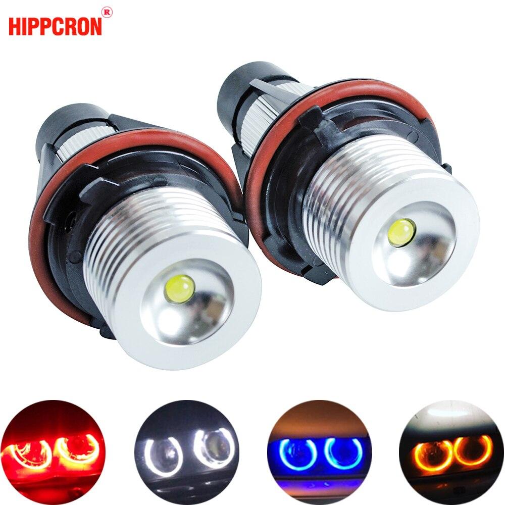Светодиодные Габаритные огни «ангельские глазки», 2 шт., лампы для E39 E53 E60 E61 E63 E64 E65 E66 E87 525i 530i xi 545i M5 без ошибок, 2*5 Вт