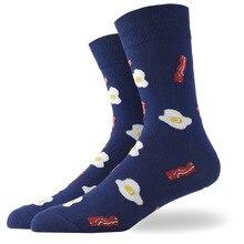 Носки с рисунком еды, мужские повседневные хлопковые цветные носки с рисунками животных из мультфильмов, растений фри, Харадзюку, жаккардовые уличные носки в стиле хип-хоп, забавные счастливые носки