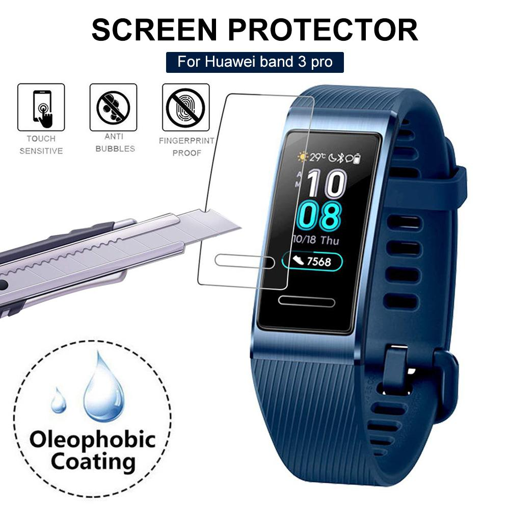 Hot Sale 3PCS Soft TPU Transparent Screen Protector Protective Film For Huawei Band 3 Pro Drop Scratch Resistant HD Film