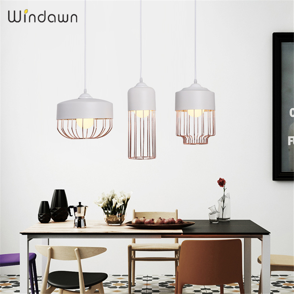 Windawn Nordic Pendant Lights Iron Ceiling Lamp Simple Bedside Lamp Modern Hotel Bedroom Living Room Office For Ceiling Lamp