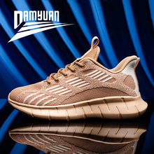 Damyuan New Shoes 2020 Men's Shoes Breathable Sneakers Men Lacing Outdoor Jogging Shoes Black Shoes for Men Men Shoes Running 45 salomon shoes speed cross 4 cs sneakers men cross country shoes black red speedcross 4 jogging shoes strong grip running shoes