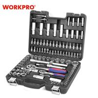 WORKPRO 108PC Tool Set for Car Repair Tools Mechanic Tool Set Matte Plating Sockets Set Ratchet Spanners Wrench