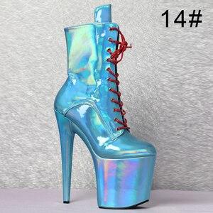 """Image 5 - Sexy striptizerka tancerz 8 """"wysoki obcas platformy magiczny kolor zasznurować botki"""