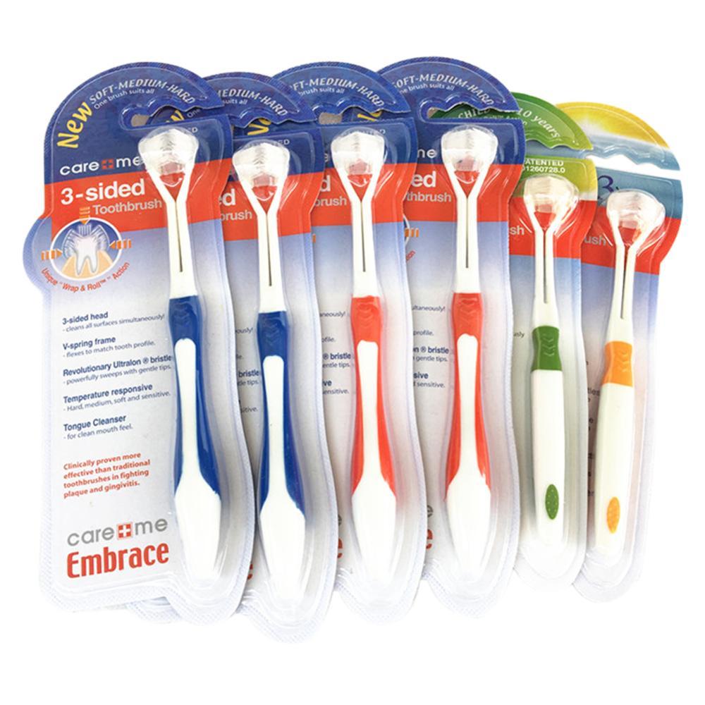 Brosse à dents en Silicone à 3 faces nettoyant pour la santé bucco-dentaire pour le brésil VIP