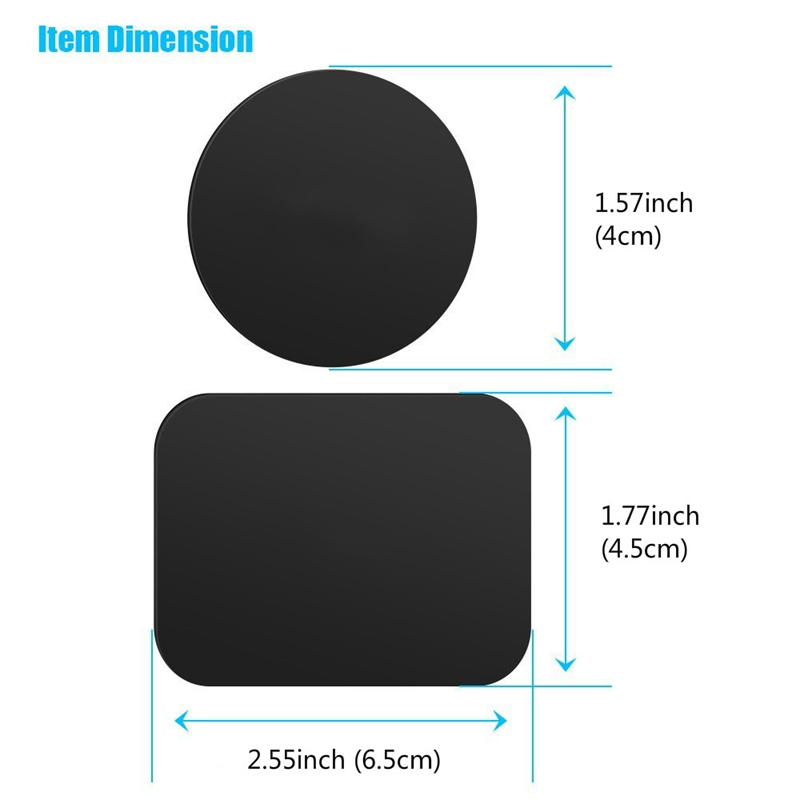 Universal Magnet Car Phone Holder Accessories Replacement Metal Plate Disk For Magnet Holder iron Sheet Sticker With 3M Adhesive in Phone Holders Stands from Cellphones Telecommunications