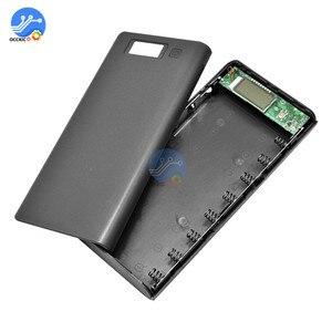 Image 3 - 8x18650 Caixa de Bateria Carregador De Banco de Potência Titular Caso Reservatório de Plástico DIY Kit 18650 LCD Display Celular Porta USB sem Bateria