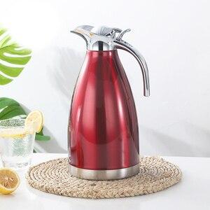 Image 3 - 1.5L 2L 二重壁のステンレス鋼魔法瓶ポットコーヒー茶熱絶縁水ボトル水差し
