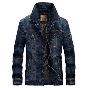 Image 4 - 2020 בתוספת גודל M 6XL חורף גברים של אופנה מזדמן סגנון צמר חם קאובוי מעיל מעיל גבר אביב סתיו ג ינס כחול מעילי מעילים