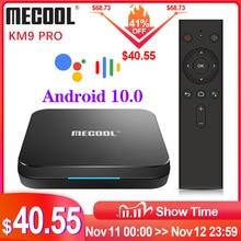 صندوق تلفاز ذكي ميكول KM9 برو من جوجل معتمد من Androidtv Android10.0 4GB 32GB Amlogic S905X2 9.0 KM3 ATV 4GB 64GB 4K مزدوج واي فاي