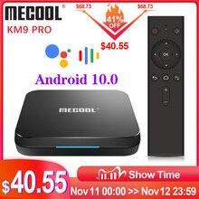 MECOOL KM9 Pro Google 인증 Androidtv Android10.0 4GB 32GB Amlogic S905X2 9.0 KM3 ATV 4GB 64GB 4K 듀얼 Wifi 스마트 TV 박스