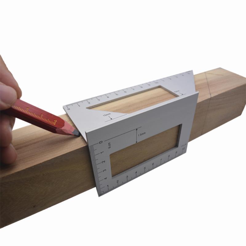 Измерительная линейка из алюминиевого сплава для деревообработки, продуманное производство, долговечная комбинированная линейка для инже...