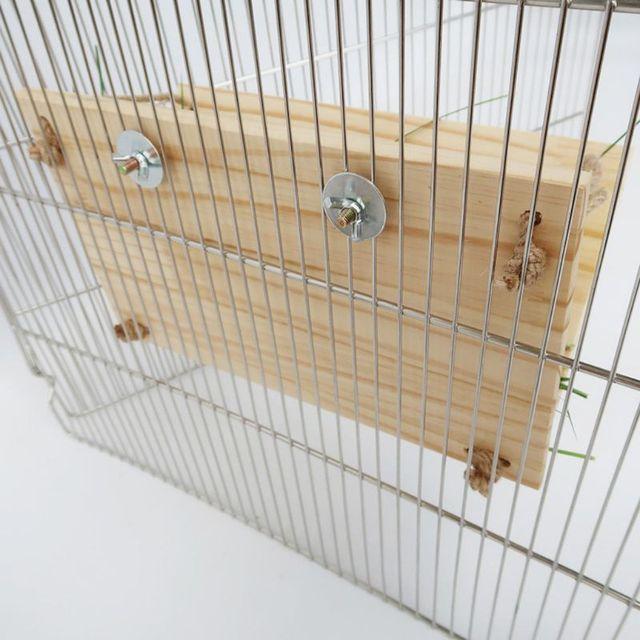 Wooden Rabbit Hay Feeder Hay Manger Rack Holder Hamster Food Dispenser for Guinea Pig Bunny Chinchilla 3