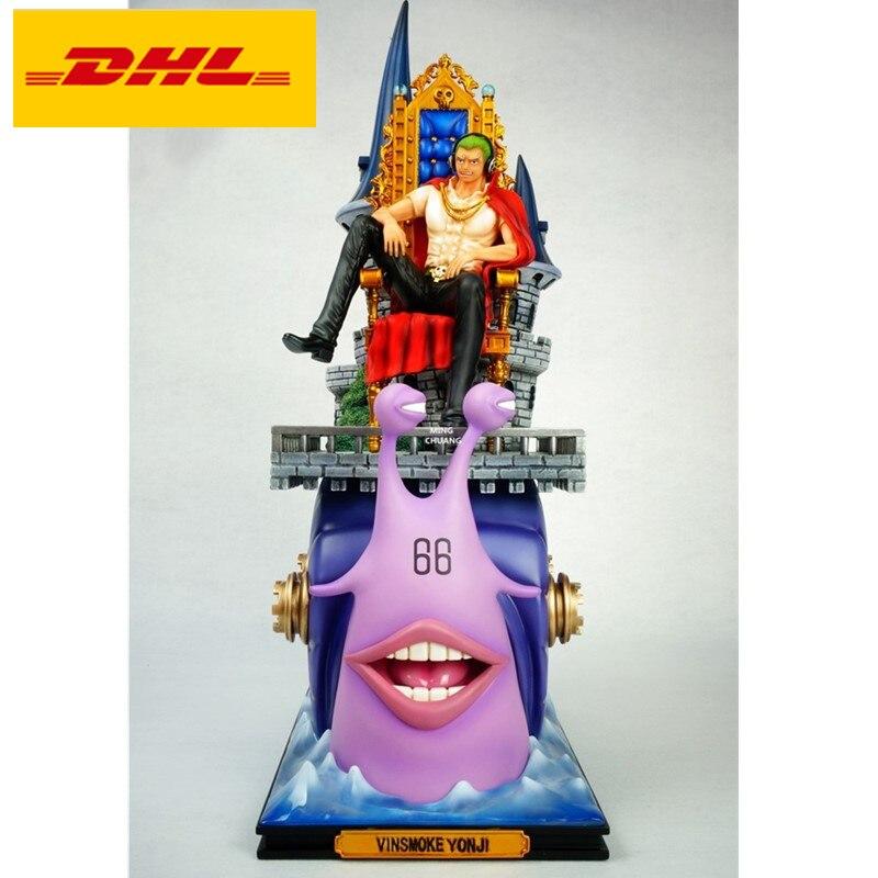 "18"" One Piece Statue VinsmokeFamily Bust Gelma Kingdom Prince Full-Length Portrait Vinsmoke.Yonji GK Action Figure Toy 45CM V411"